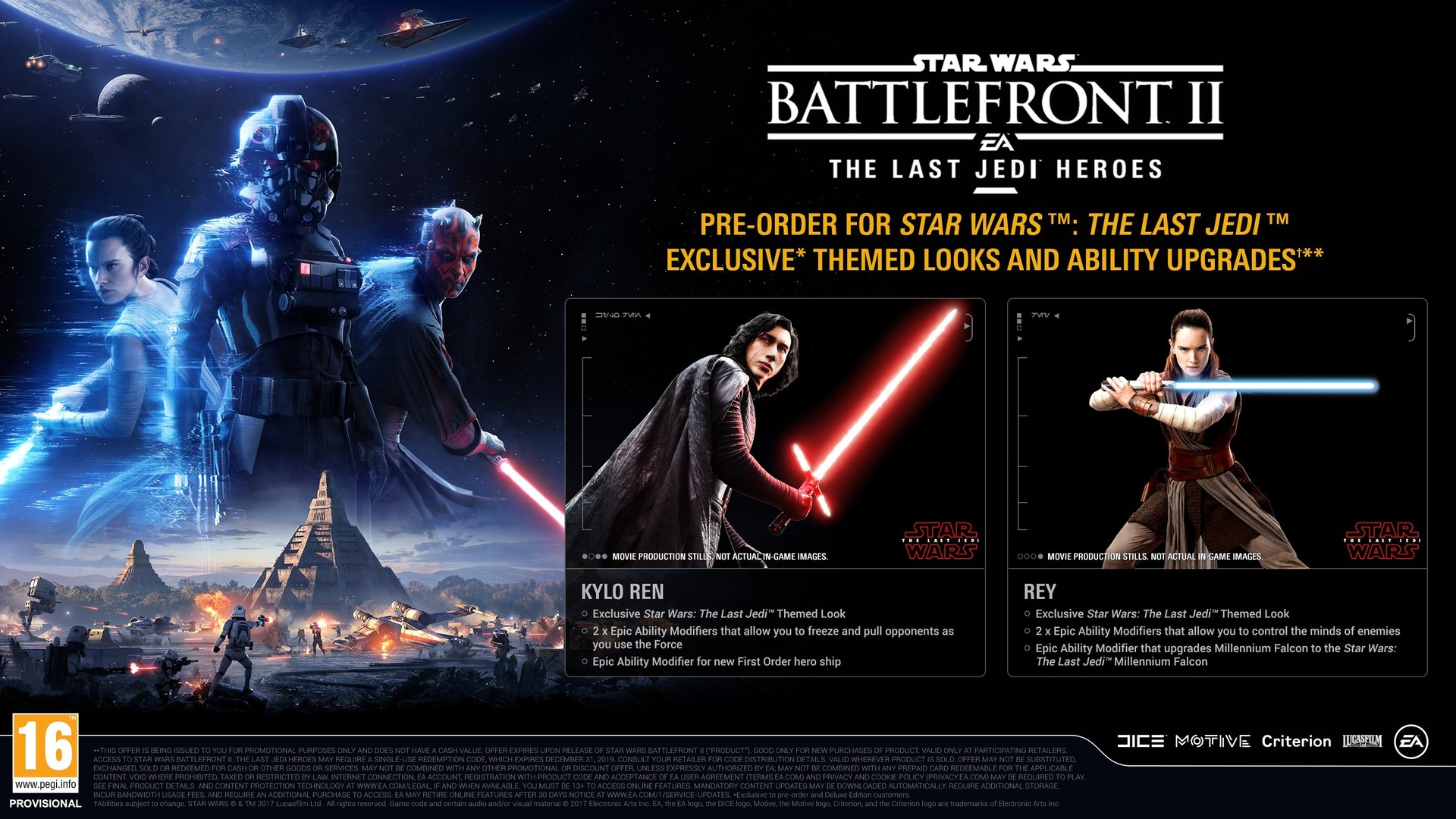 Star Wars Battlefront 2 The Last Jedi Heroes DLC