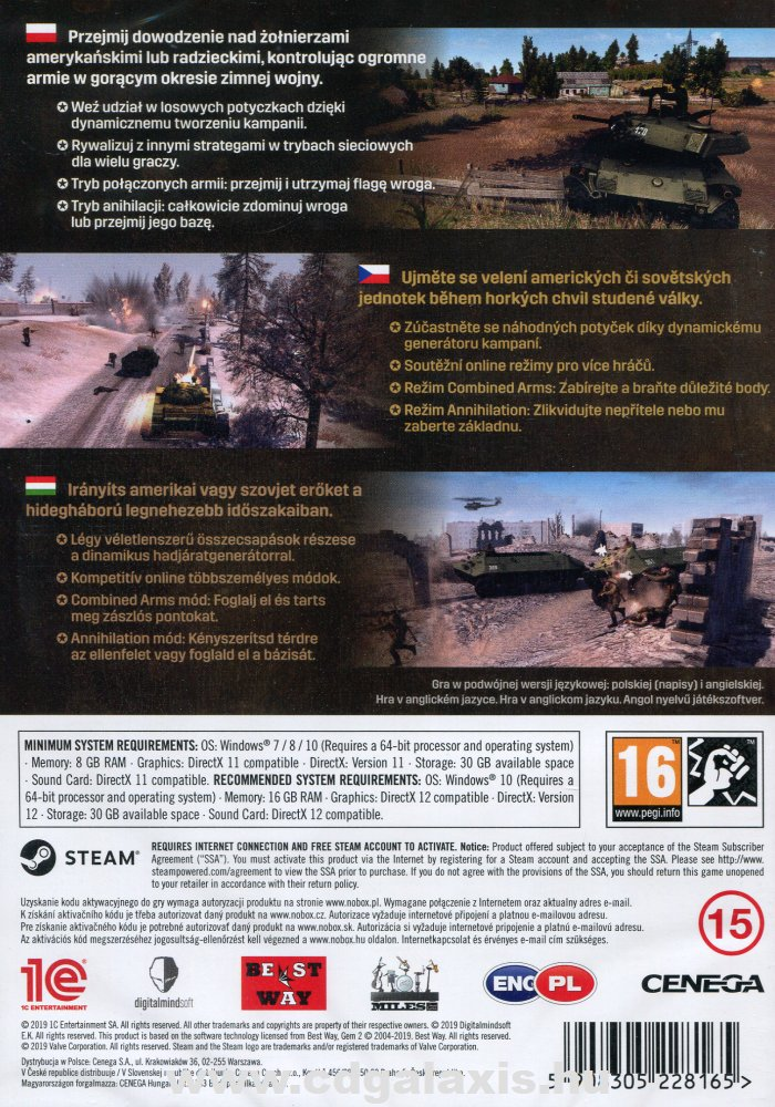PC játék Men of War Assault Squad 2 Cold War hátlap