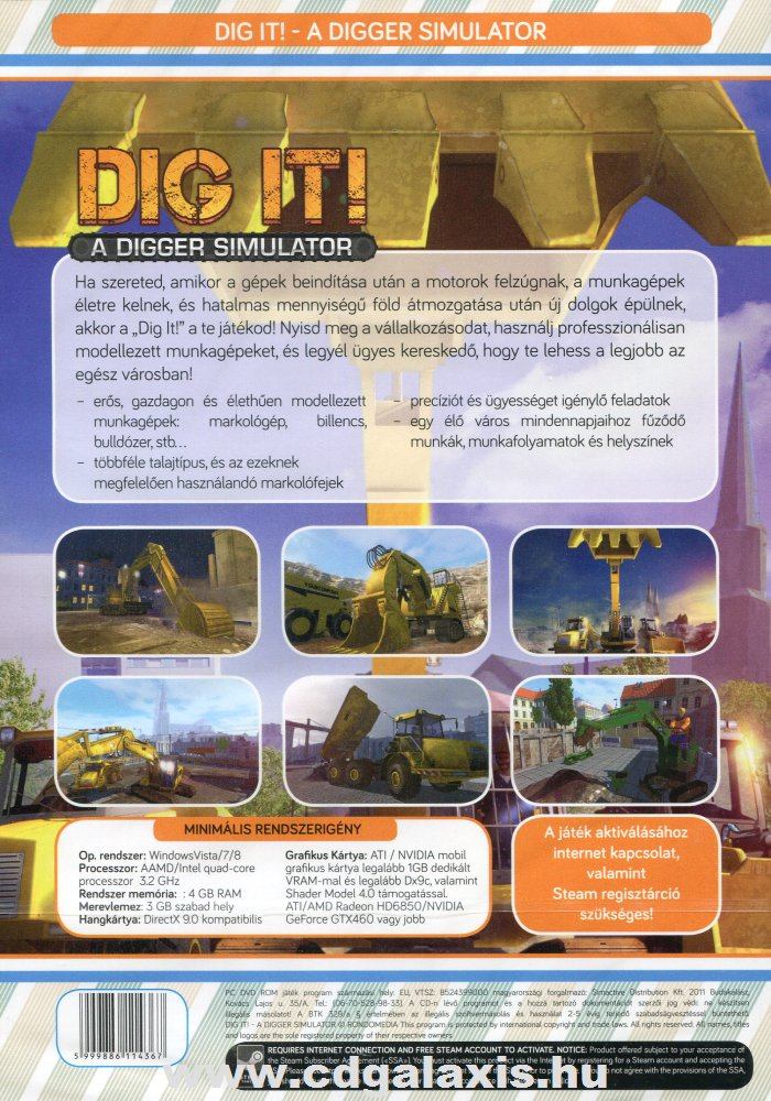 Dig It: A Digger Simulator hátlap