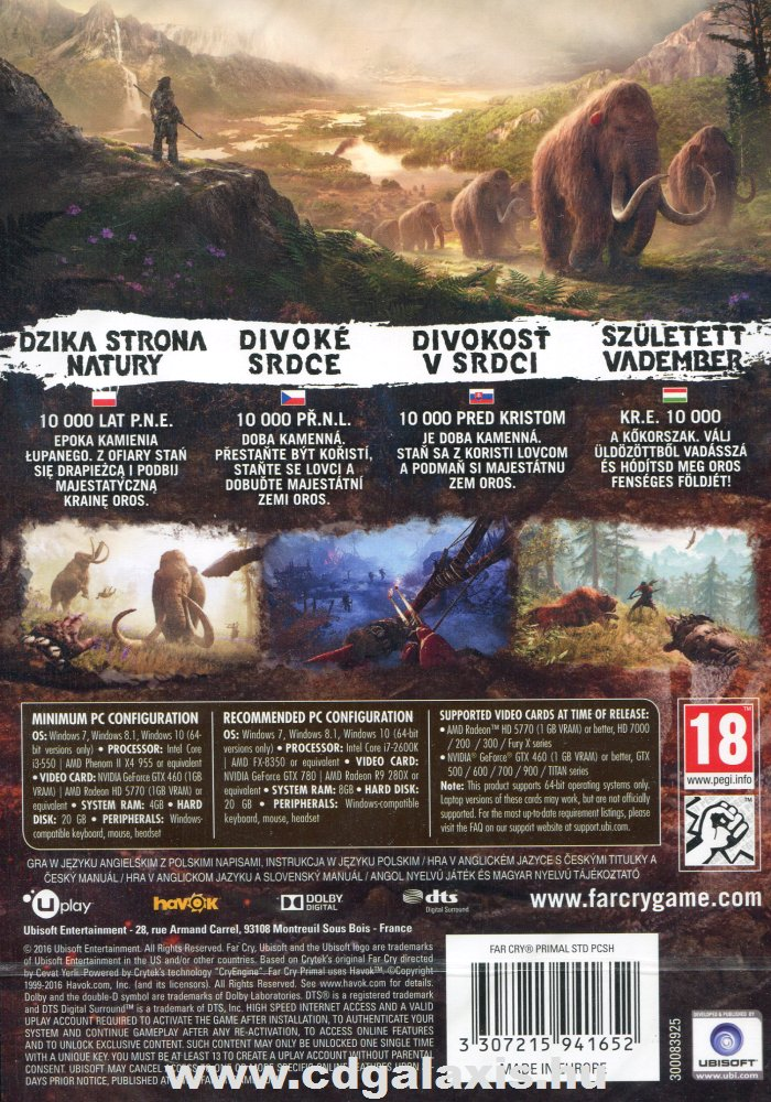 Far Cry Primal hátlap