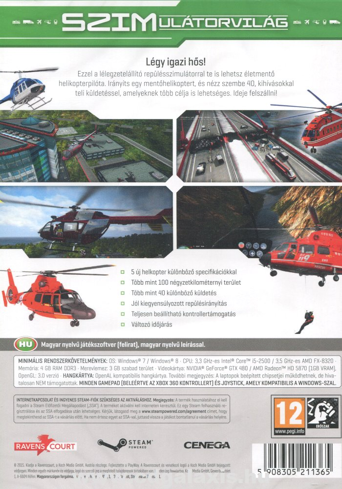 PC játék Helicopter 2015: Natural Disasters hátlap