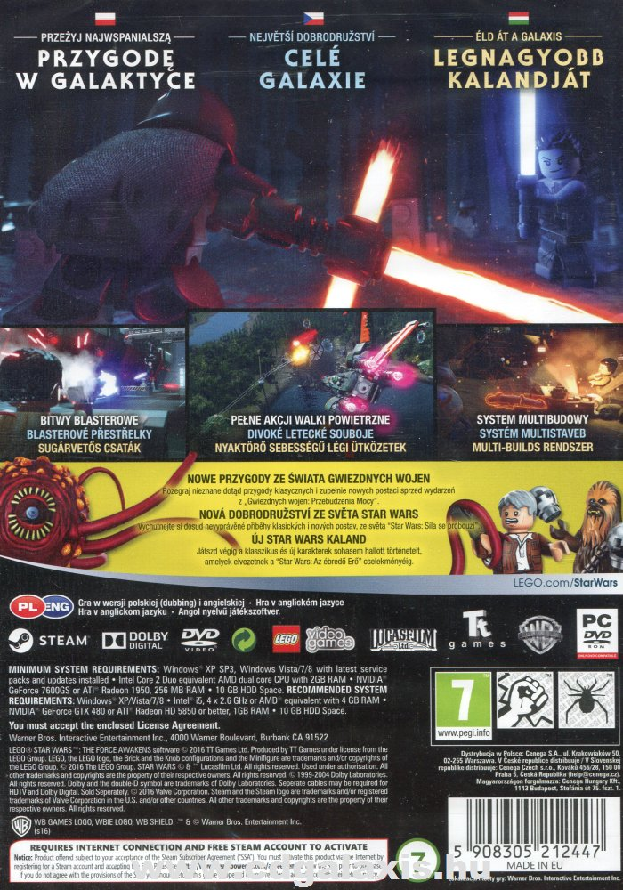 PC játék LEGO Star Wars: The Force Awakens hátlap