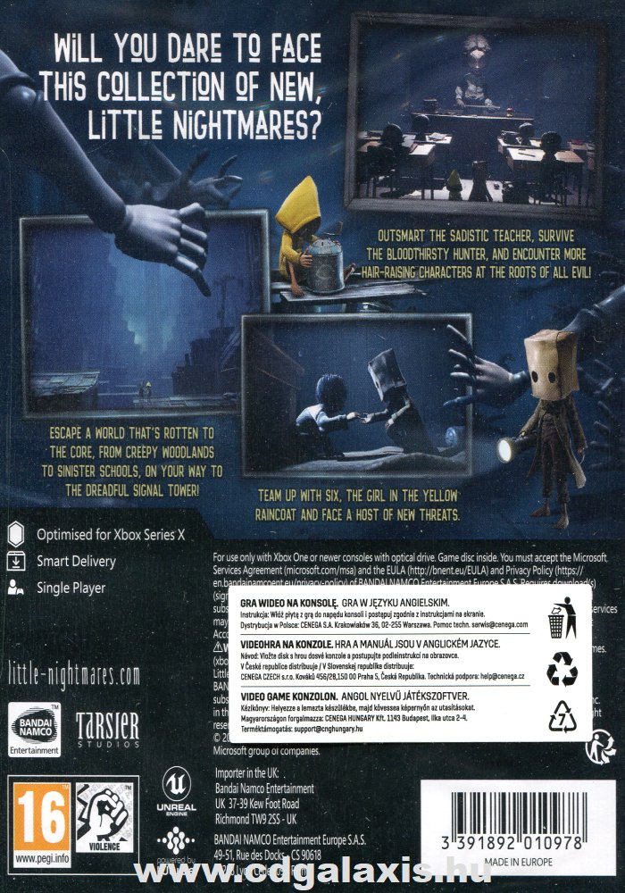 Xbox One Little Nightmares 2 Day One Edition hátlap