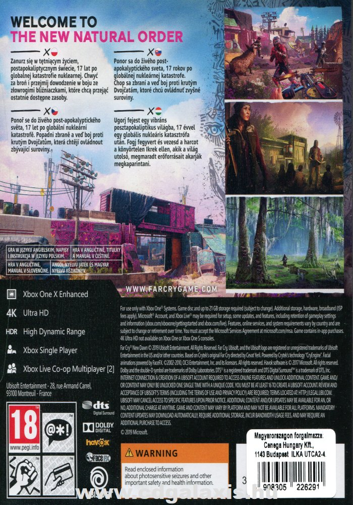 Xbox One Far Cry New Dawn hátlap