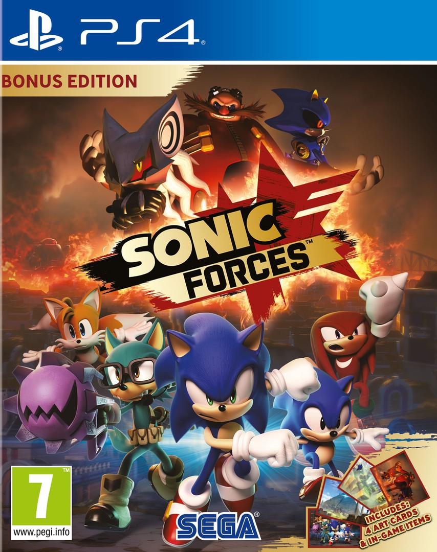 Playstation 4 Sonic Forces Bonus Edition borítókép