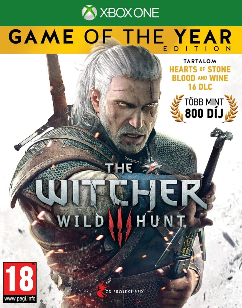 Xbox One Witcher 3: Wild Hunt Game of the Year Edition borítókép