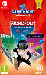 Switch Hasbro Game Night - Monopoly, Risk, Trivial Pursuit Live