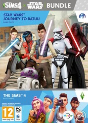 PC játék Sims 4 és Star Wars Journey to Batuu