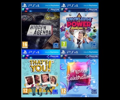 Playstation 4 PlayLink csomag: Hidden Agenda, Knowledge is Power,SingStar, Thats You