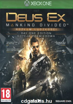 Deus Ex Mankind Divided Day One Edition borító